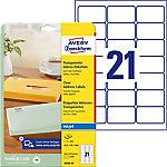 Avery QuickPEEL™ Inkjet adresetiketten Transparant 63,5 x 38,1 mm 25 Vel 525 Stuks