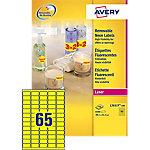 Avery Mini etiketten Fluo geel 38,1 x 21,2 mm 100 Vel 6500 Stuks