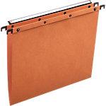 ELBA Hangmappen met drukknoppen Azo Ultimate A4 Oranje Kraftkarton Ophangmaat 330 mm 23,5 x 33 cm 25 Stuks
