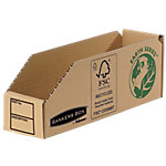 R Kive Magazijnbakjes 07352EU 100% gerecycleerd karton 5,1 x 28 x 10 cm Bruin 50 Stuks