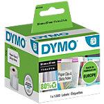 DYMO Etiketten 11354 57 x 32 mm Zwart op Wit 1.000 Stuks