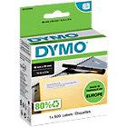 DYMO Etiketten 11355 19 x 51 mm Zwart op Wit 500 Stuks