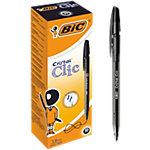 BIC Cristal Clic Balpen 0,4 mm Zwart 20 Stuks