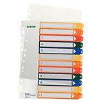 Leitz Tabbladen Numeriek A4+ Kleurenassortiment 12 tabs 11 gaats Polypropyleen 1 t