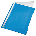 Leitz Snelhechtermappen 4191 A4 Lichtblauw PVC Transparante voorzijde   25 Stuks