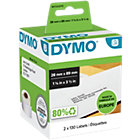 DYMO Adresetiketten 99010 89 x 28 mm Zwart op Wit 2 x 130 Stuk