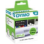 DYMO Adresetiketten 99112 89 x 36 mm Zwart op Wit 2 x 260 Stuk