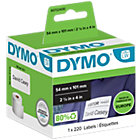 DYMO Etiketten 99014 101 x 54 mm Zwart, wit