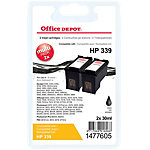 Office Depot Compatible HP 339 Inktcartridge C9504EE Zwart Pak 2