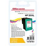 Office Depot Compatible HP 351XL Inktcartridge CB338EE Cyaan, Magenta, Geel