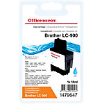 Office Depot Compatible Brother LC900C Inktcartridge Cyaan