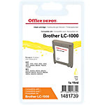 Office Depot Compatible Brother LC1000Y Inktcartridge Geel