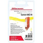 Office Depot Compatible Canon BCI 6Y Inktcartridge Geel