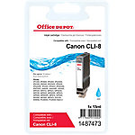 Office Depot Compatible Canon CLI 8C Inktcartridge Cyaan