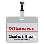 Office Depot Badge met draaibare clip   liggend 9 x 6 cm 50 Stuks