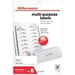 Office Depot Afgeronde hoeken Multifunctionele etiketten Wit 99,1 x 38,1 mm 40 Vel 560 Stuks