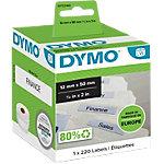 DYMO Hangmapetiketten LW99017 50 x 12 mm Wit 220 Stuks