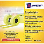 Avery Etiketten YPLP1226 Geel 10  x 1.500 Etiketten