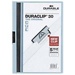Durable Klemmap Duraclip A4 Blauw PP Folie 3 mm rug