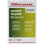 Office Depot Gerecyclede Flipoverblokken 65 x 98 cm Geruit 70 g
