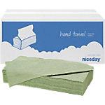 Niceday Gereccycled V vouw handdoekjes 1  laags Pak 20