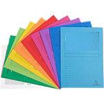 Exacompta L hoezen 50100E A4 Kleurenassortiment Gerecycleerd papier Met venster   100 Stuks
