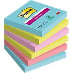 Post it Super Sticky Notes Lichtblauw, lichtgroen, roze, magenta 76 x 76 mm 74 g