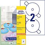 Avery L7676 Cd en dvd etiketten Wit Ø 117 mm 25 Vel 50 Stuks