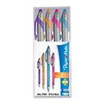 PaperMate Flexgrip® Elite Balpen 1,4 mm Turquoise, Roze, Paars, Oranje 4 Stuks
