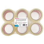 Office Depot Low noise Industriële tape Transparant 50 µm 48 mm x 66 m 6 Rollen