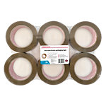 Office Depot Low noise Industriele tape Bruin 50 mm x 100 m 6 Rollen