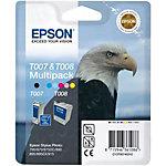Epson T007 + T008 Inktcartridge Zwart, cyaan, magenta, geel, licht cyaan, licht magenta