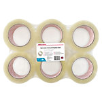 Office Depot Low noise Industriele tape Transparant 50 mm x 100 m 6 Rollen