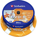 Verbatim DVD R Printable 43538 4.7 GB 120 min. 25 Stuks