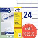 Avery QuickPEEL™ Universele etiketten Wit 70 x 37 mm 100 Vel 2400 Stuks