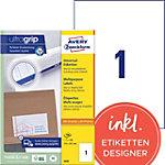 AVERY Zweckform Rechte hoeken Universele etiketten Wit 210 x 297 mm 100 Vel 100 Stuks