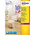 Avery Mini etiketten Fluo geel 99,1 x 38,1 mm 100 Vel 1400 Stuks