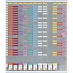 Nobo Jaarplanner 12 maanden met T kaartjes 48 x 48 x 1,5 cm