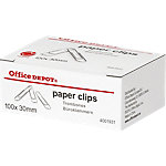 Office Depot Metalen paperclips Zilver 30 mm 100 Stuks