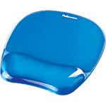 Fellowes Muismat Crystals™ Gel Blauw