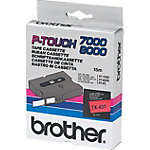 Brother TX 431 Tape Cassettes Zwart, rood