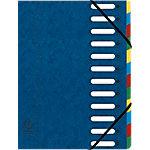 Exacompta Groeimap Exaclair Harmonik A4 Blauw Karton, Stof 24 x 32 cm Stuks