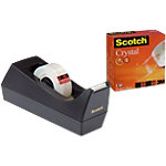 Scotch C38 Tapedispenser Zwart Scotch® dispenser + 1 rol Scotch® Crystal tape 19 mm x 33 m