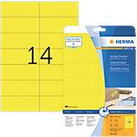 HERMA Special Multifunctionele etiketten Geel 105 x 42,3 mm 20 Vel 280 Stuks