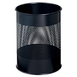 Durable Atlanta Prullenbak Zwart 15 liter Metaal 260 x 315 mm