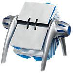 Rolodex visitekaartstandaard met deksel, 175 (l) x 135 (b) x 95 (h) mm, grijs   blauw
