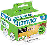 DYMO Etiketten 99013 89 x 36 mm Transparant Stuks