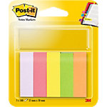 Post it 670 5 Index Kleurenassortiment neon 15 x 50 mm 15 x 50 mm 70 g