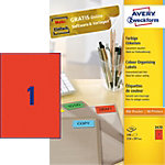 Avery Zweckform 3470 Universele etiketten Rood 210 x 297 mm 100 Vel 100 Stuks