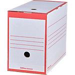 Office Depot Archiefdoos A4 Rood 100% gerecycleerd karton 24,5 x 16,7 x 33,5 cm 25 Stuks